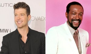 Blurred line? … Robin Thicke and Marvin Gaye.